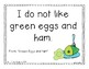 Green Eggs: A Primary Mentor Sentence Unit