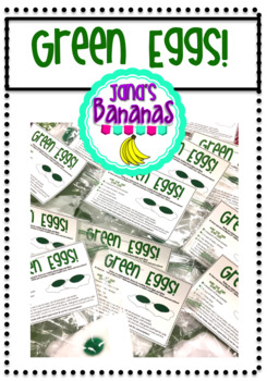 Green Eggs Clipart and Recipe Card