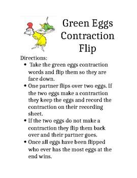 Green Eggs Contraction Flip Game