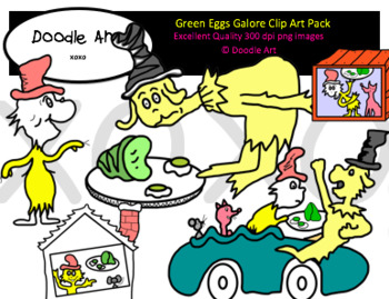 Green Eggs Galore Clipart Pack