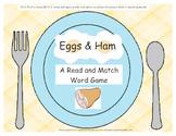 Green Eggs & Ham Enrichment Picture/Word Match Game Dr. Seuss
