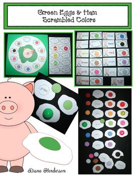 "Green Eggs & Ham ""Scrambled Colors"" Game Packet"