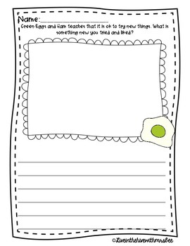 Green Eggs & Ham Writing FREEBIE
