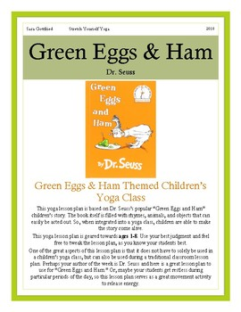 green eggs  ham yoga lesson plansara gottfried  tpt