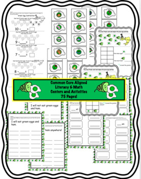 Green Eggs Literacy and Math Activities and Centers