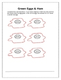 Green Eggs Math Worksheet