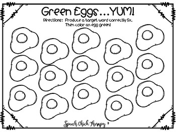 Green Eggs...YUM!  Open Ended Artic Sheet