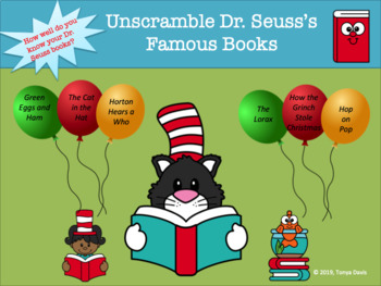 Unscramble Dr. Seuss's Famous Books