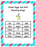Green Eggs and Ham Bingo