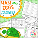 Green Eggs and Ham Coloring