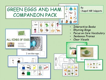 Green Eggs And Ham Companion Pack Speech Special Education