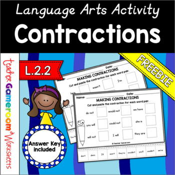 Green Eggs and Ham Contractions Worksheet