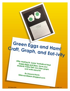 Green Eggs and Ham Craft, Graph, and Eat-tivity