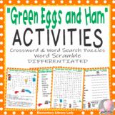 Green Eggs and Ham Dr. Seuss Activities Crossword Word Sea
