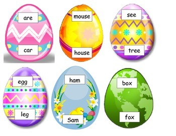 GOOD DOCTOR eggs with green ham hands on ESL rhyming Easter COMMON CORE