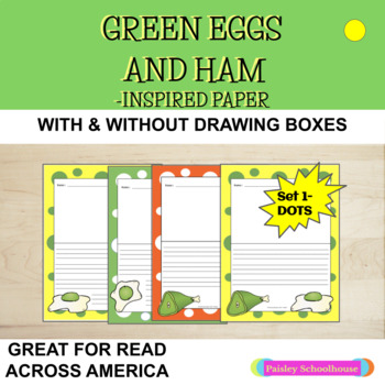 Green Eggs and Ham - Inspired Primary Writing Paper (Dots Design)