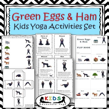 Green Eggs And Ham Kids Yoga Activities Set By Kids Adventure Yoga