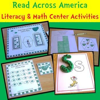 Read Across America Literacy & Math Center Activities