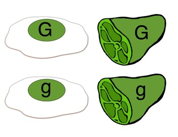 Green Eggs and Ham Letter G Sort