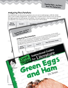 Green Eggs and Ham Leveled Comprehension Questions