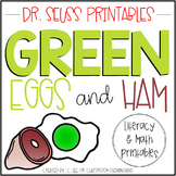 Green Eggs and Ham Literacy and Math Activity Packet {Dr. Seuss}