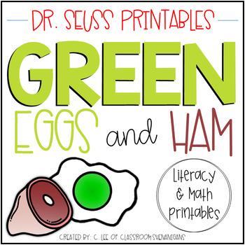 graphic relating to Green Eggs and Ham Printable identify Eco-friendly Eggs and Ham Literacy and Math Video game Packet Dr. Seuss