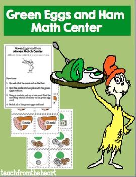 Green Eggs and Ham Math Center FREEBIE