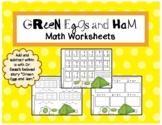 Green Eggs and Ham Math Worksheets - Dr. Seuss Week