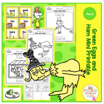 Green Eggs And Ham Rhyme Teaching Resources