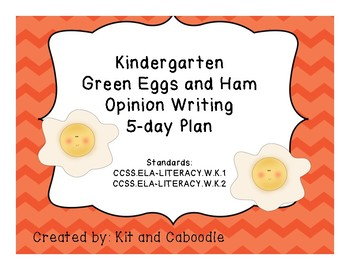 Green Eggs and Ham Opinion Writing 5-Day Plan