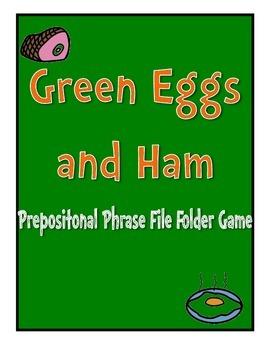 Green Eggs and Ham Prepositional File Folder Game