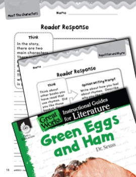 Green Eggs and Ham Reader Response Writing Prompts