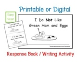 Green Eggs Response Book:  Printable Digital Writing Activ