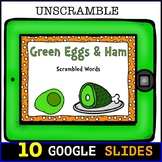 Green Eggs and Ham Scrambled Rhyming Words: Digital Task Cards