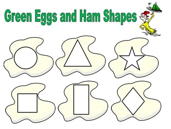 Green Eggs and Ham Shape Match