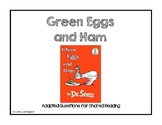Green Eggs and Ham Shared Reading