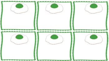 Green Eggs and Ham Short Vowel Picture Sort