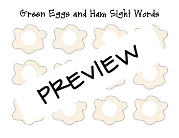 Green Eggs and Ham Sight Words