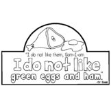 Green Eggs and Ham - Student Hat Activity - Dr. Seuss Week