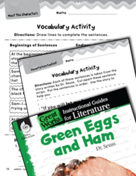 Green Eggs and Ham Vocabulary Activities