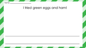 Green Eggs and Ham Writing Activity