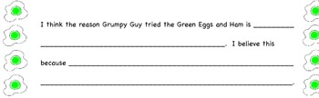 Green Eggs and Ham activinspire, CCSS opinion writing, missing addend.