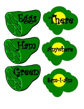 Green Eggs and Ham alphabetical order