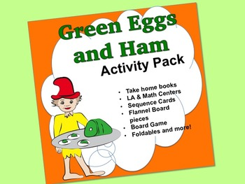 Green Eggs & Ham  Activity Pack:  sequence , books, foldables, LA/math centers