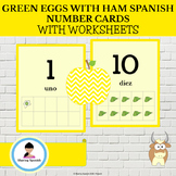 Green Eggs with Ham Spanish Number Cards and Worksheets
