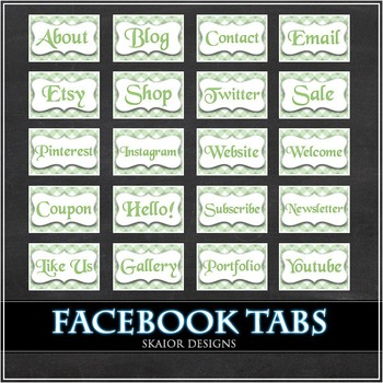 Green Facebook Tabs