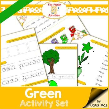 Green - File Folder Activity Set