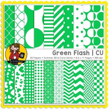 Green Flash Digital Papers {CU}