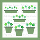 Green Flowers in Plant Pots Clip Art Clipart Spring Summer