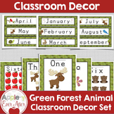 Green Forest Animal Theme Classroom Decor Package - OVER 1
